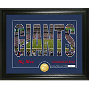 Highland Mint New York Giants Silhouette Photo Mint