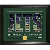 """Highland Mint New York Jets """"Silhouette"""" Panoramic Bronze Coin Photo Mint"""