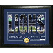 Highland Mint Detroit Lions Silhouette Photo Mint