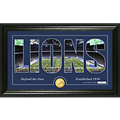 "Highland Mint Detroit Lions ""Silhouette"" Panoramic Bronze Coin Photo Mint"
