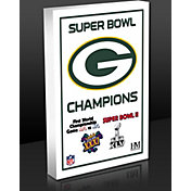 Highland Mint Green Bay Packers 4-Time Super Bowl Champions Commemorative 3D Art Block