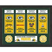 Highland Mint Green Bay Packers Super Bowl Banner Collection Photo Mint