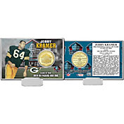 Highland Mint Green Bay Packers Jerry Kramer 2018 Pro Football Hall of Fame Induction Bronze Coin Card
