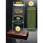 Highland Mint Green Bay Packers Super Bowl Champions Ticket & Minted Coin Acrylic Desktop Display