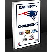 Highland Mint New England Patriots 5-Time Super Bowl Champions Commemorative 3D Art Block