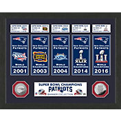 Highland Mint New England Patriots Super Bowl Banner Collection Photo Mint