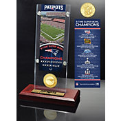 Highland Mint New England Patriots Super Bowl Champions Ticket & Minted Coin Acrylic Desktop Display