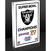 Highland Mint Oakland Raiders 3-Time Super Bowl Champions Commemorative 3D Art Block