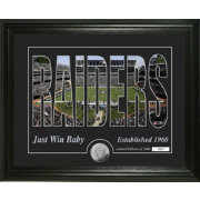 Highland Mint Oakland Raiders Silhouette Photo Mint
