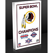 Highland Mint Washington Redskins 3-Time Super Bowl Champions Commemorative 3D Art Block