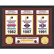 Highland Mint Washington Redskins Super Bowl Banner Collection Photo Mint