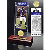 Highland Mint Baltimore Ravens Ray Lewis 2018 Pro Football Hall of Fame Induction Ticket & Coin Acrylic Desktop Display