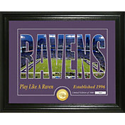 Highland Mint Baltimore Ravens Silhouette Photo Mint