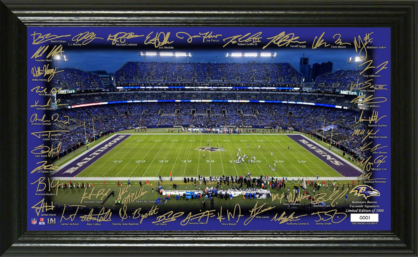 Highland Mint Baltimore Ravens 2018 Signature Gridiron Collection