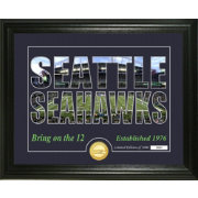 Highland Mint Seattle Seahawks Silhouette Photo Mint