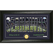 "Highland Mint Seattle Seahawks ""Silhouette"" Panoramic Bronze Coin Photo Mint"