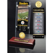 Highland Mint Pittsburgh Steelers Super Bowl Champions Ticket & Minted Coin Acrylic Desktop Display