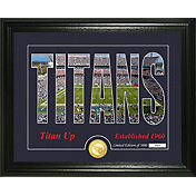 """Highland Mint Tennessee Titans """"Silhouette"""" Panoramic Bronze Coin Photo Mint"""
