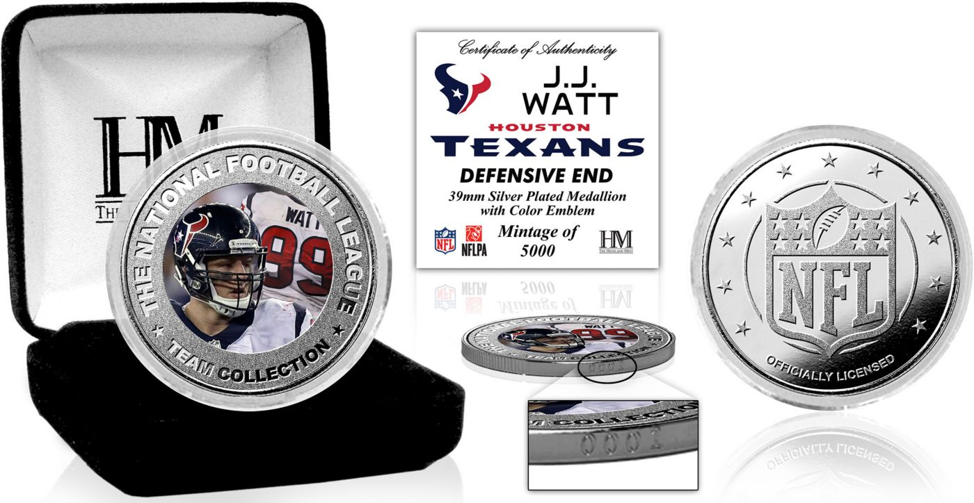 Highland Mint Houston Texans J. J. Watt Silver Color Coin