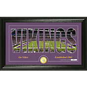 "Highland Mint Minnesota Vikings ""Silhouette"" Panoramic Bronze Coin Photo Mint"