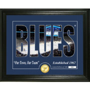 Highland Mint St. Louis Blues Silhouette Photo Mint
