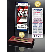 Highland Mint 2018 Stanley Cup Champions Washington Capitals Ticket and Bronze Coin Acrylic Desktop Display