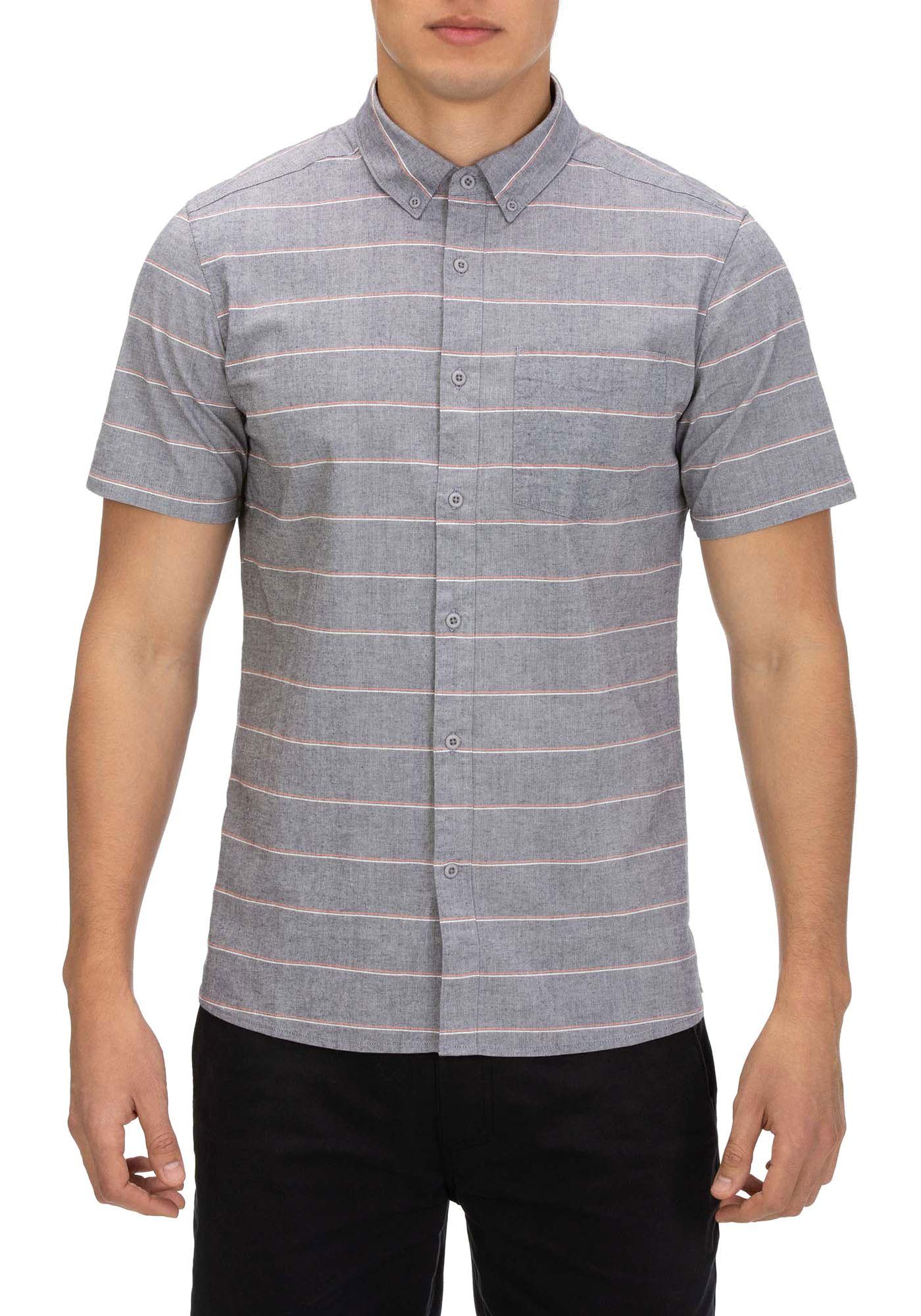 Hurley Men's Keanu Stripe Woven Short Sleeve Shirt