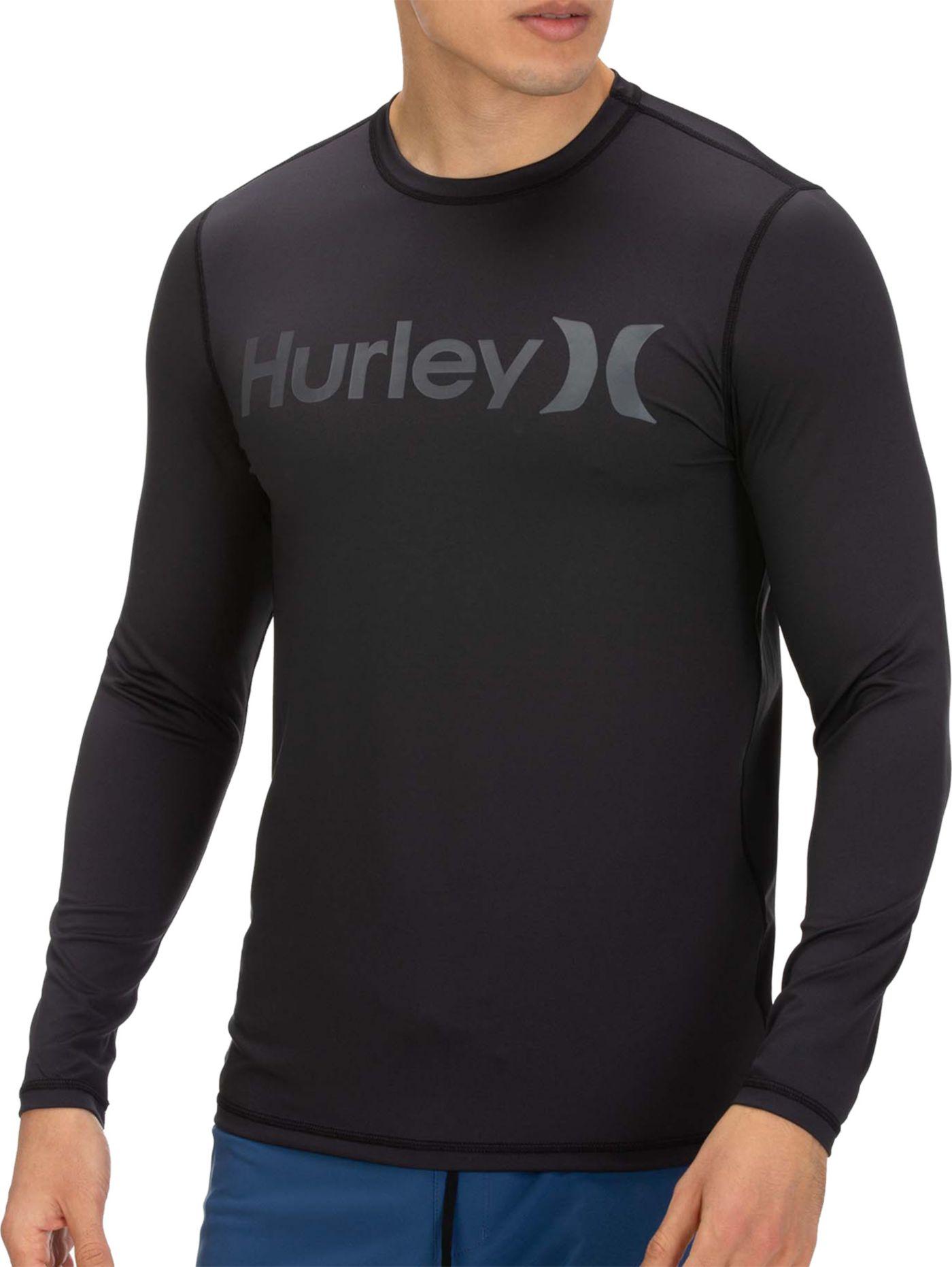 Hurley Men's O&O Long Sleeve Rash Guard