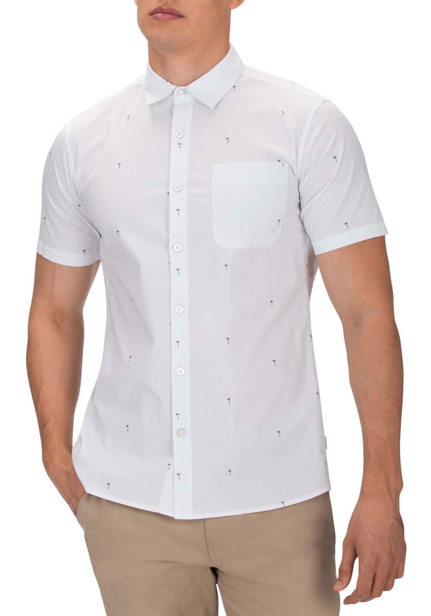 Hurley Men's Palms Woven Short Sleeve Shirt