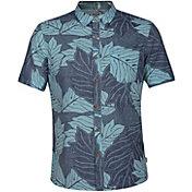 Hurley Men's Sig Zane Ululoa Woven Short Sleeve Shirt