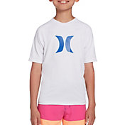 Hurley Boys' Icon Raglan Short Sleeve Rash Guard