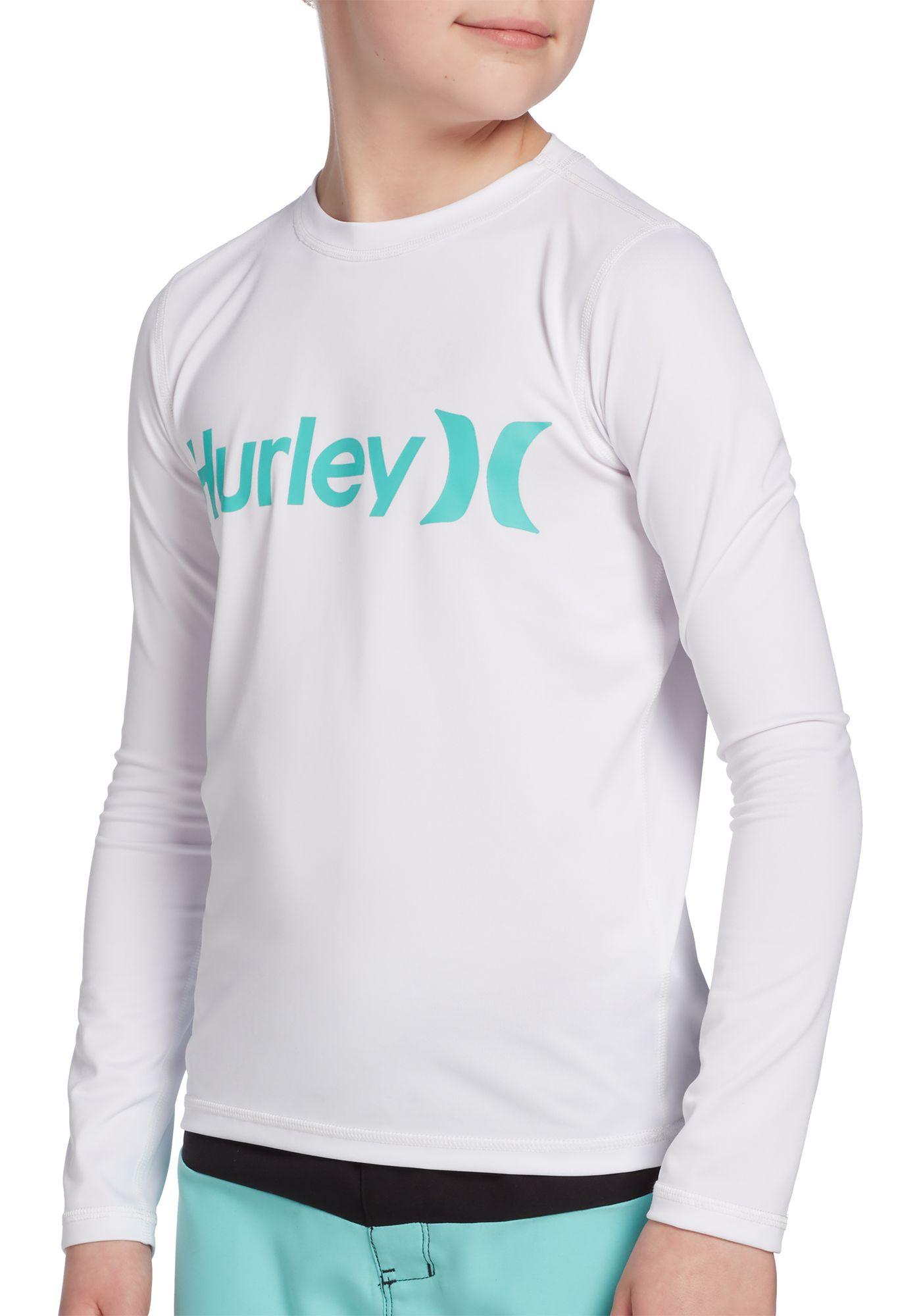 Hurley Boys' O&O Long Sleeve Rash Guard