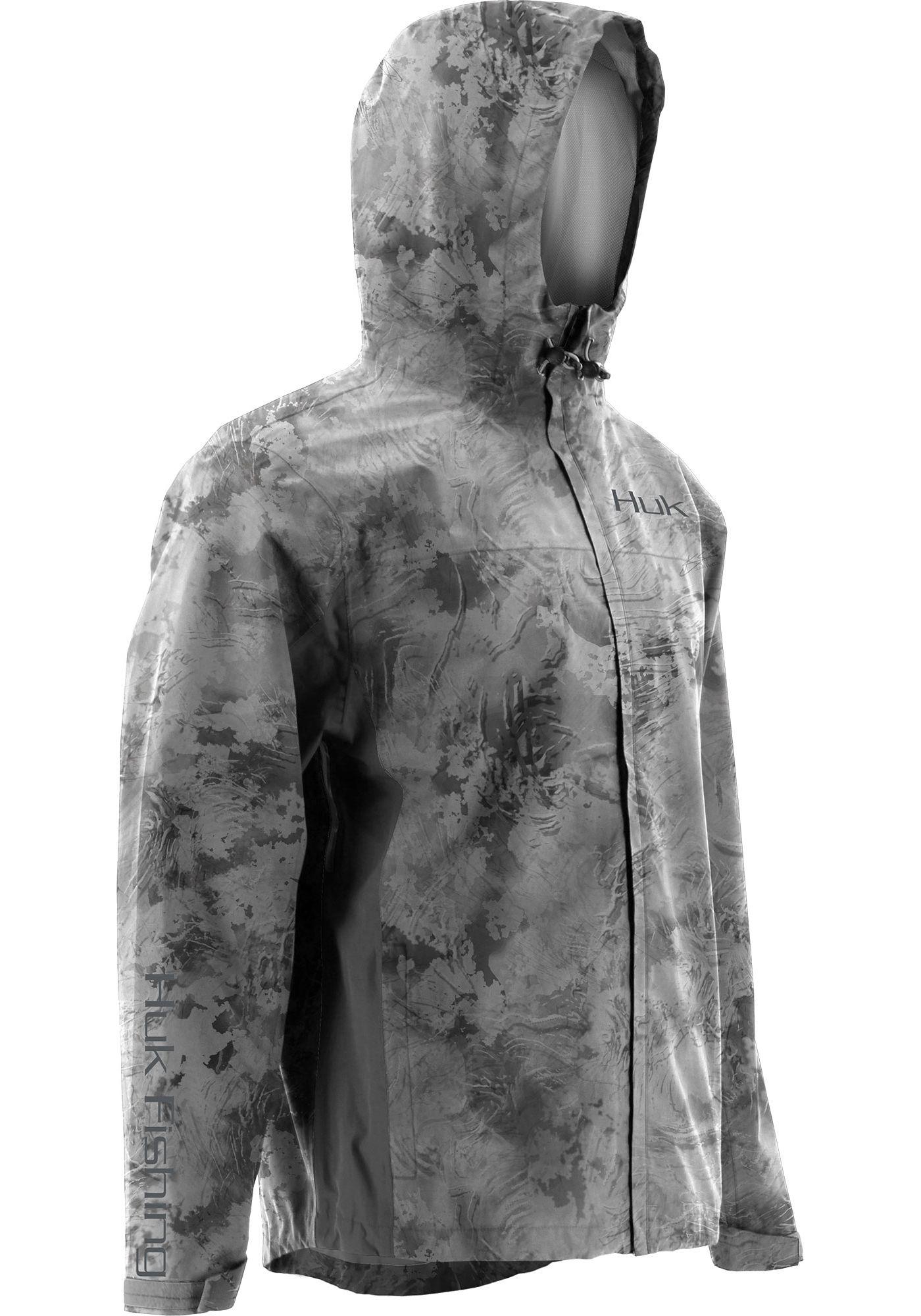 Huk Men's Subphantis Camo Packable Rain Jacket
