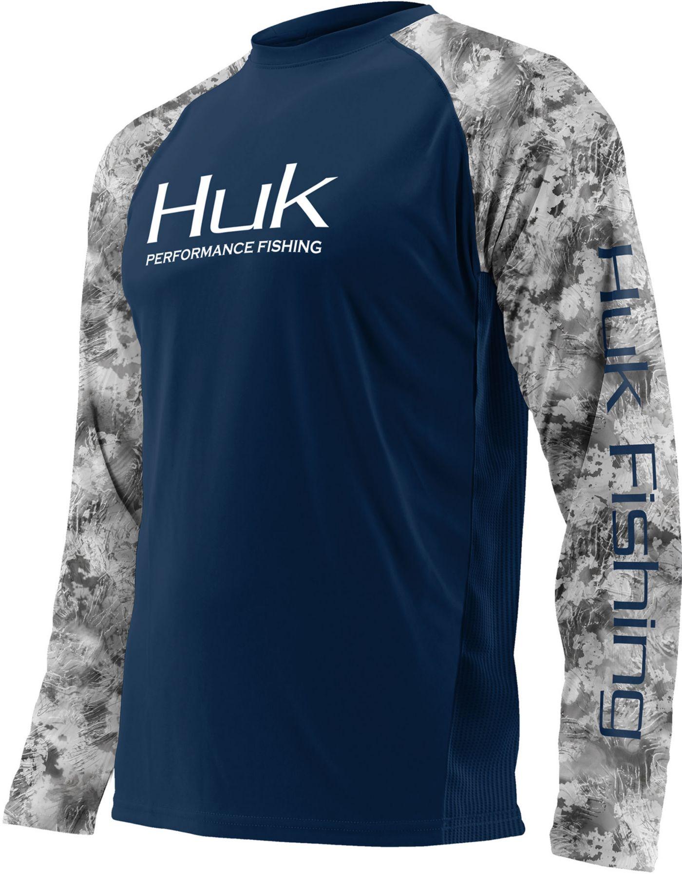 Huk Men's Performance Subphantis Double Header Vented Long Sleeve Shirt (Regular and Big & Tall)