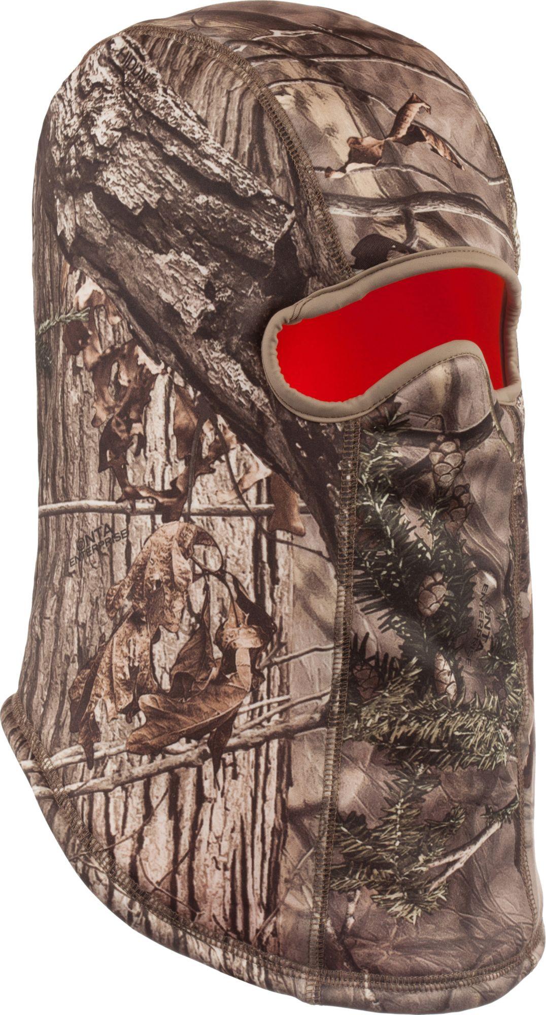 Huntworth Men's Hunting Camo/Blaze Reversible Balaclava, Brown thumbnail