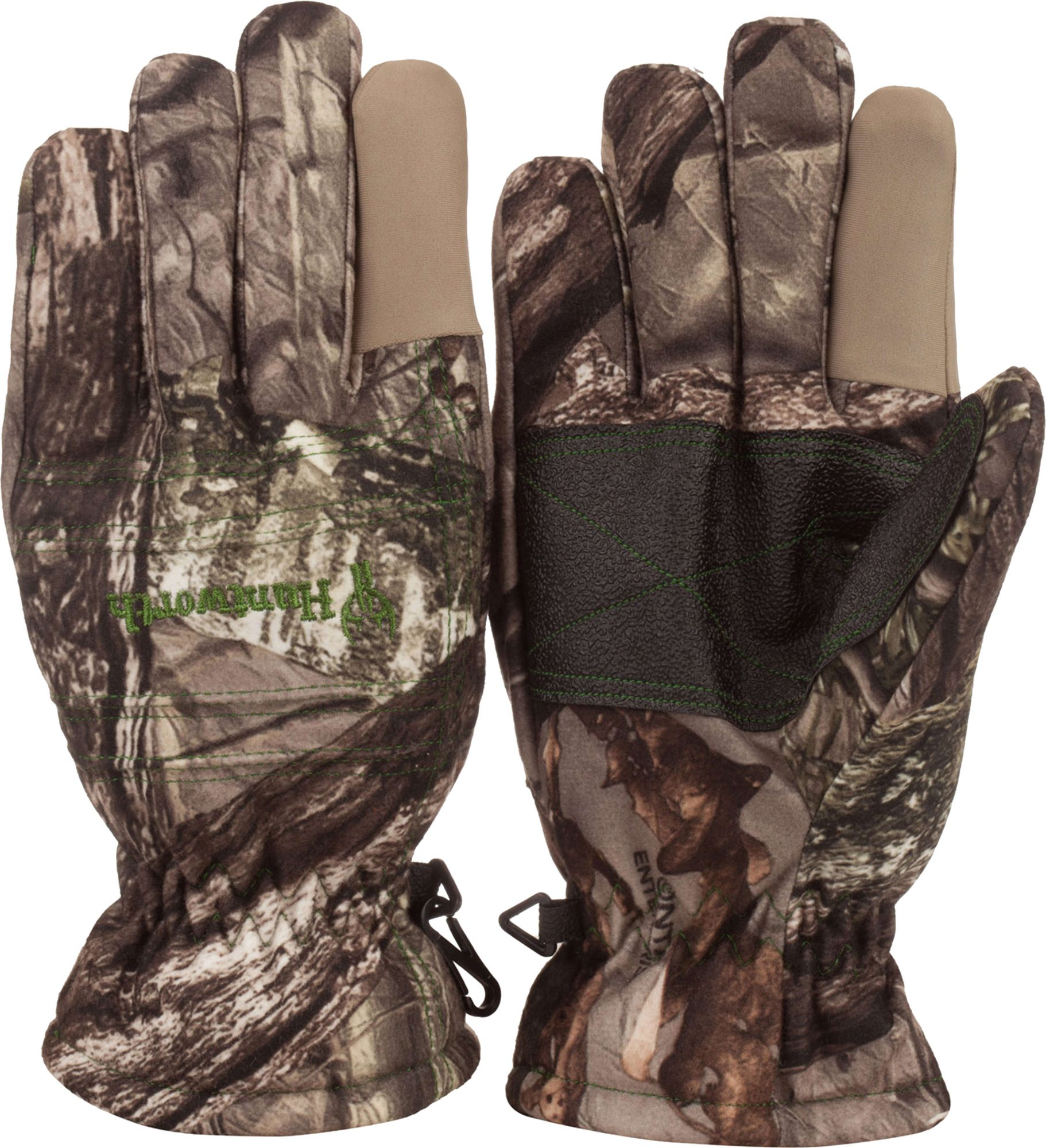 Huntworth Youth Stealth Hunting Gloves, Kids Unisex, Size: Small, Brown