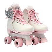 Circle Society Girls' Classic Pink Vanilla Quad Roller Skates