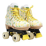 Circle Society Girls' Craze Crushed Pineapple Quad Roller Skates