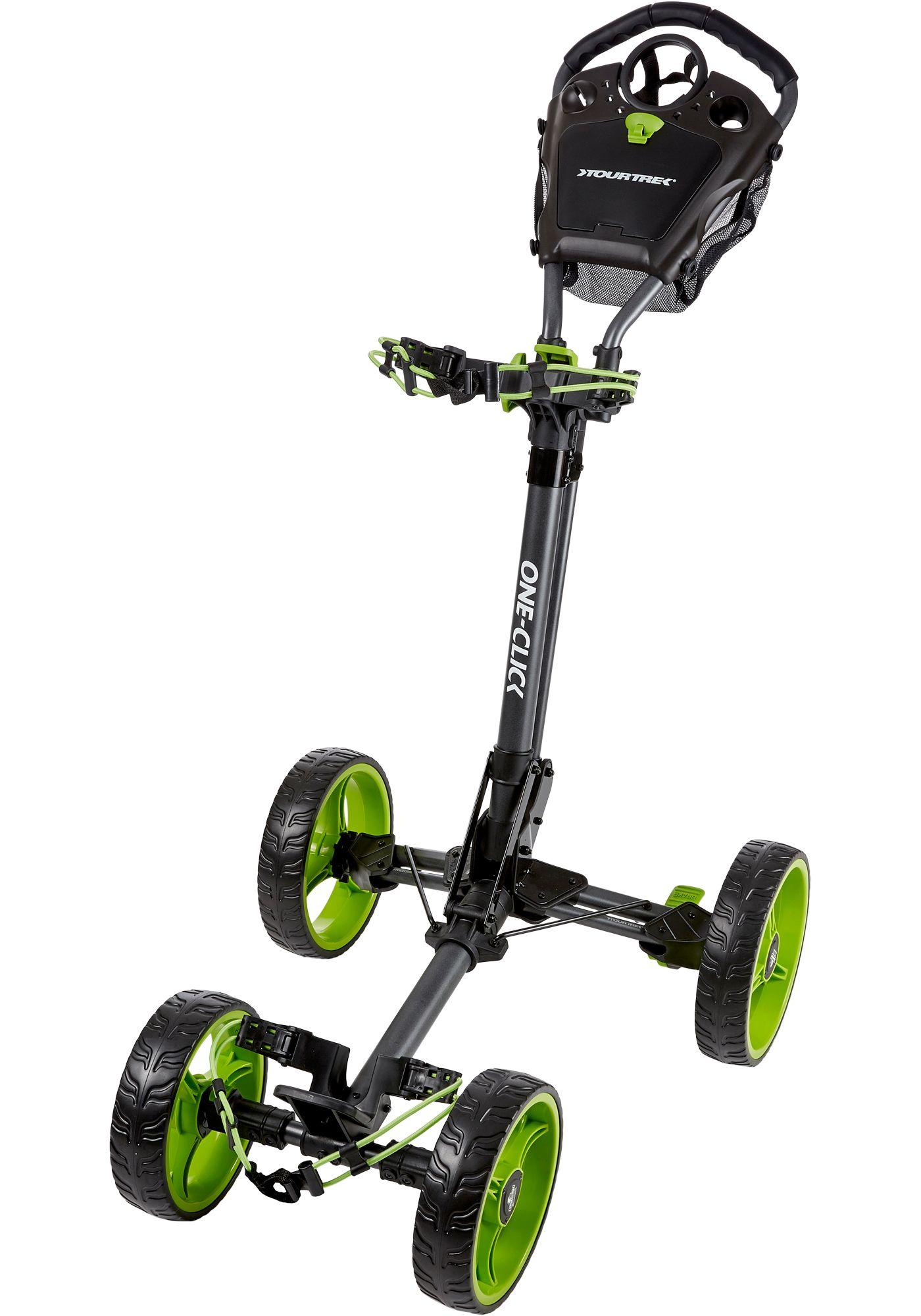 TourTrek 2018 One-Click 4-Wheel Push Cart