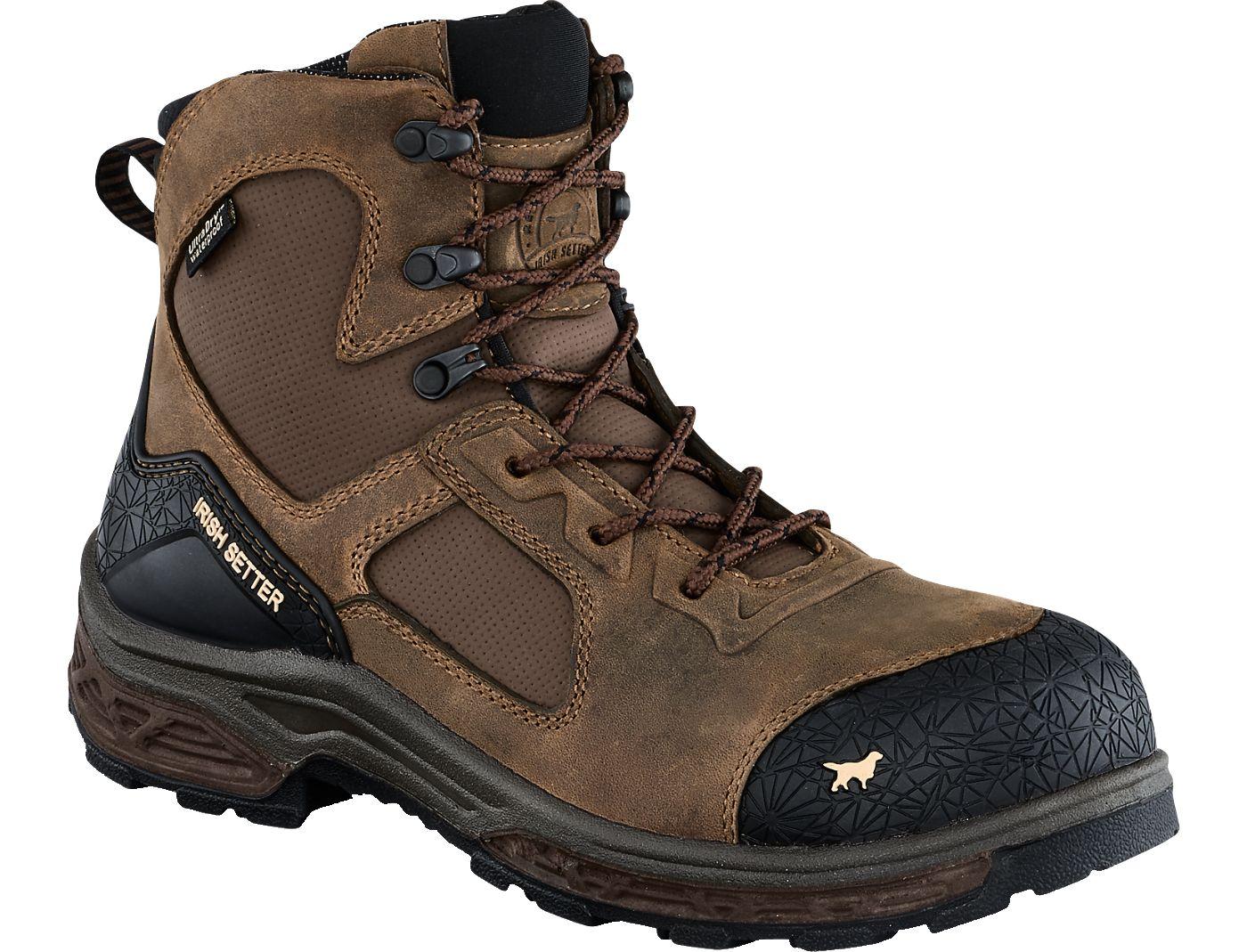 Irish Setter Men's Kasota 6'' Side Zip Waterproof Composite Toe Work Boots