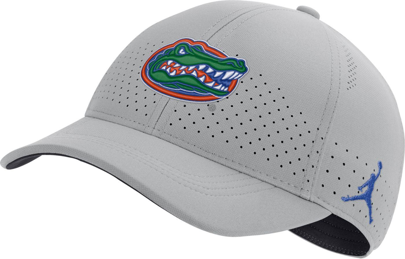 Jordan Men's Florida Gators Grey Legacy91 Adjustable Hat