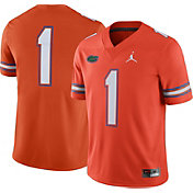 Jordan Men's Florida Gators #1 Orange Game Football Jersey