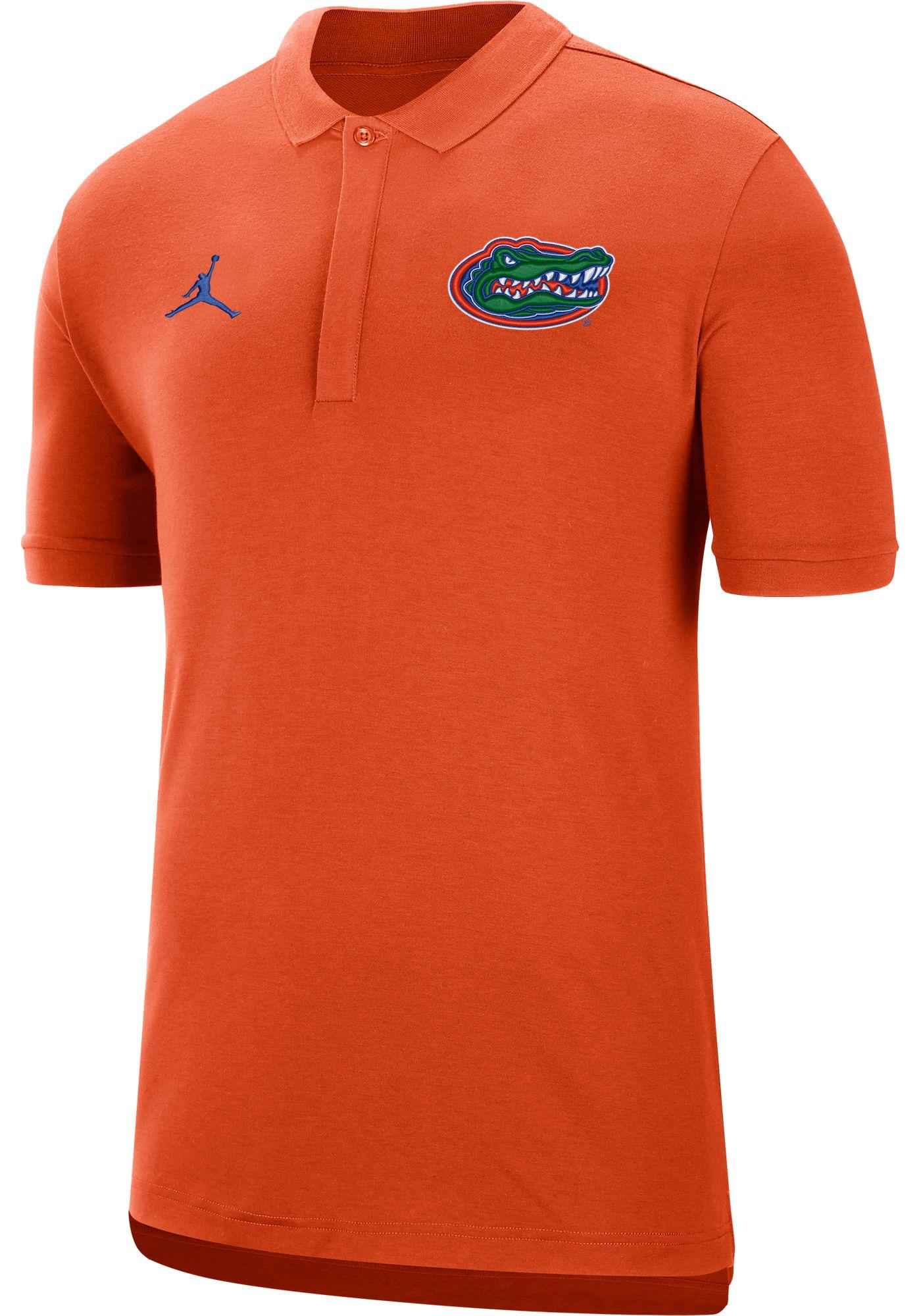 Jordan Men's Florida Gators Orange Dri-FIT Elite Football Sideline Polo