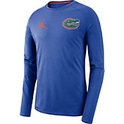 Jordan Men's Florida Gators Blue Alpha Dri-FIT Long Sleeve Shirt