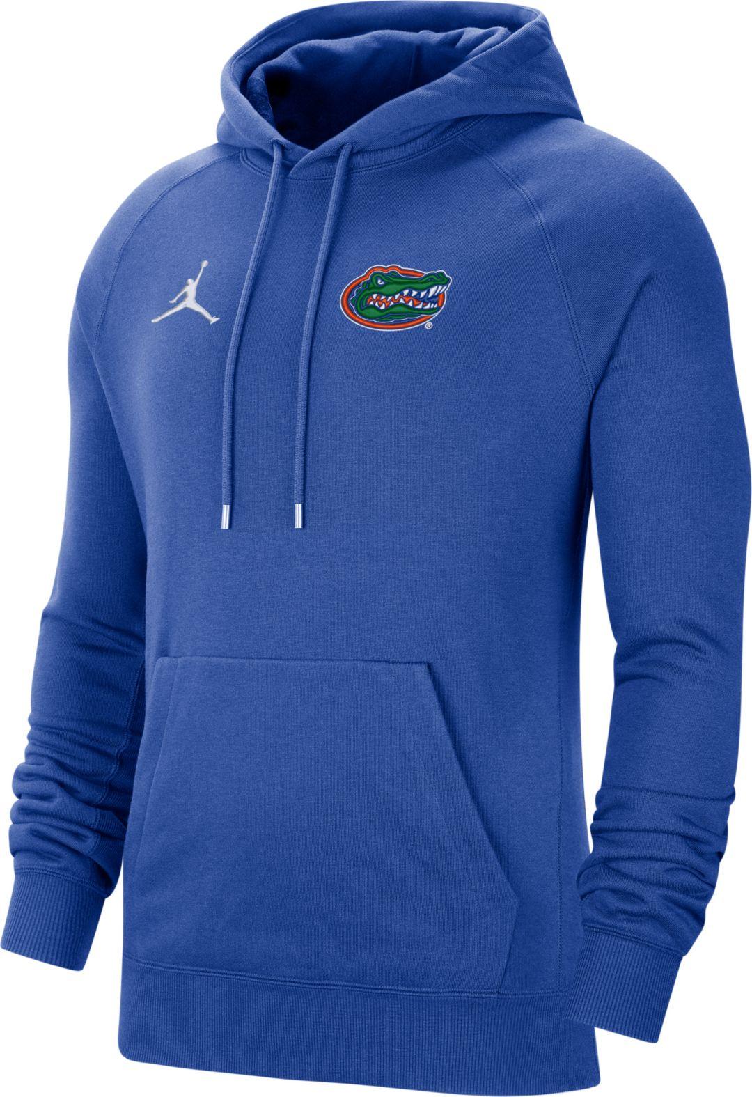 pretty nice e059c 1d217 Jordan Men's Florida Gators Blue Therma Football Sideline Pullover Hoodie