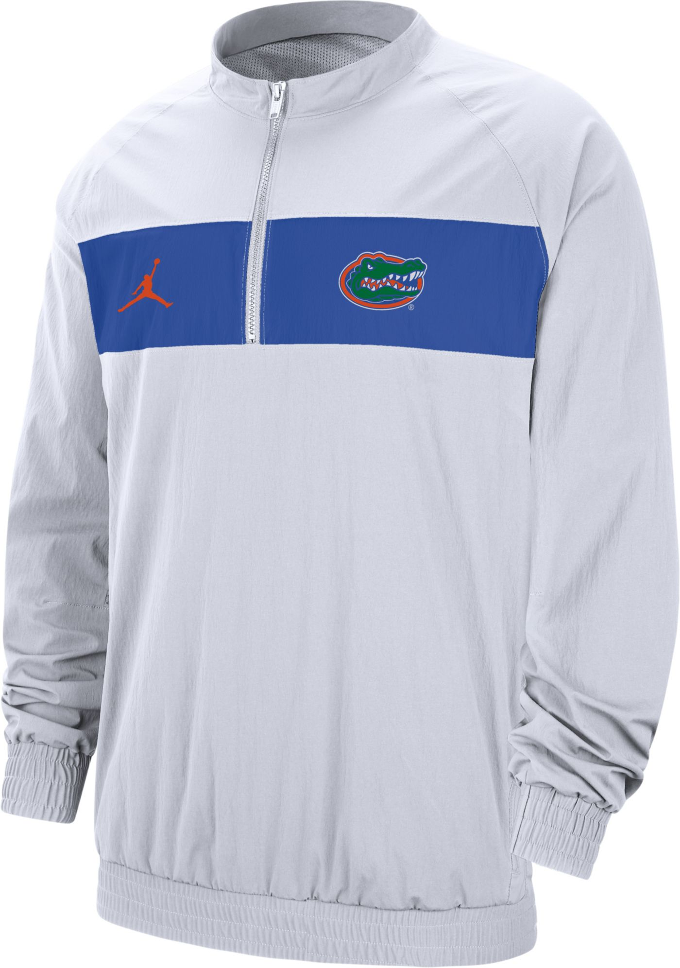 Jordan Men's Florida Gators Lockdown Half-Zip Football White Jacket