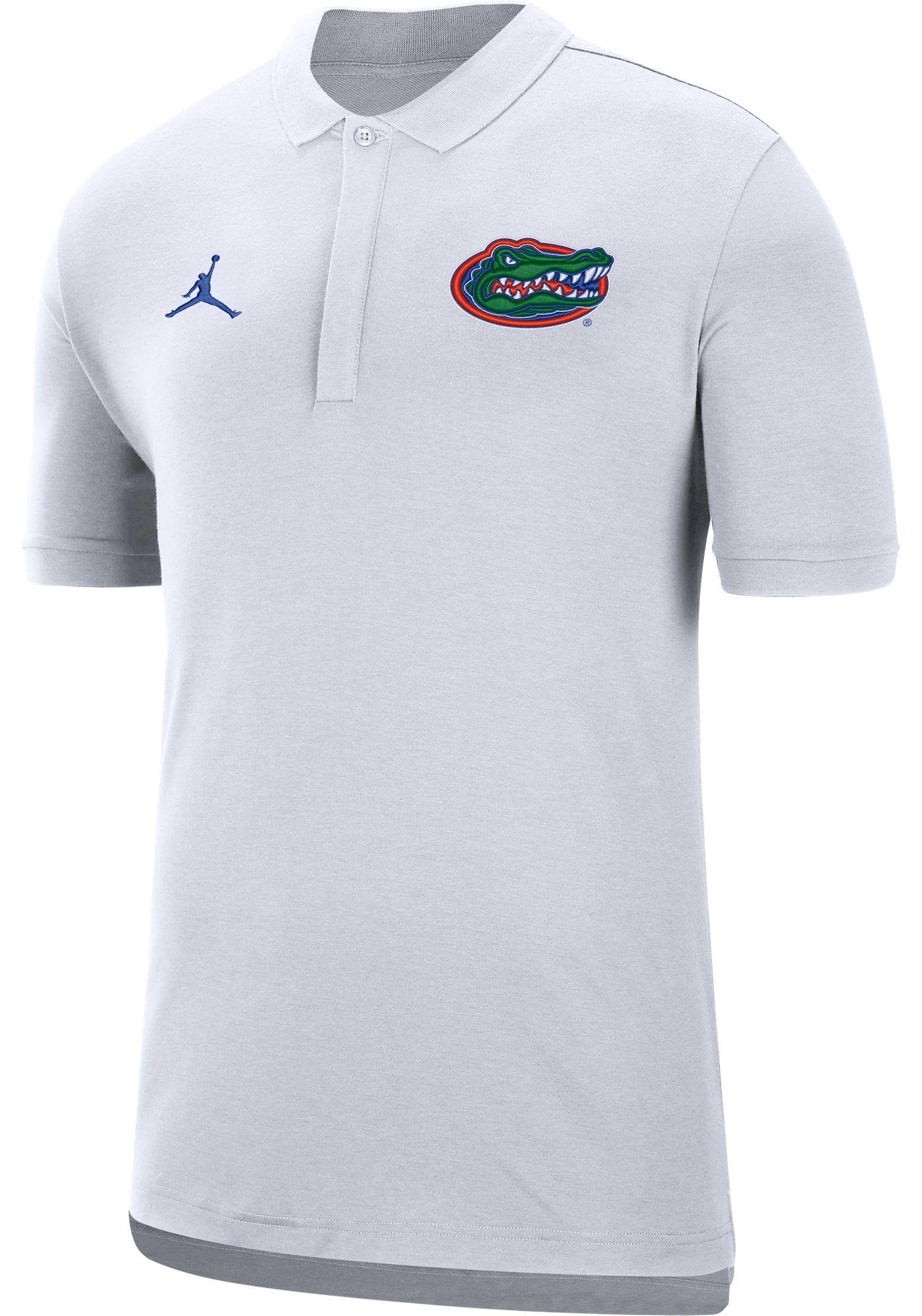 Jordan Men's Florida Gators Dri-FIT Elite Football Sideline White Polo