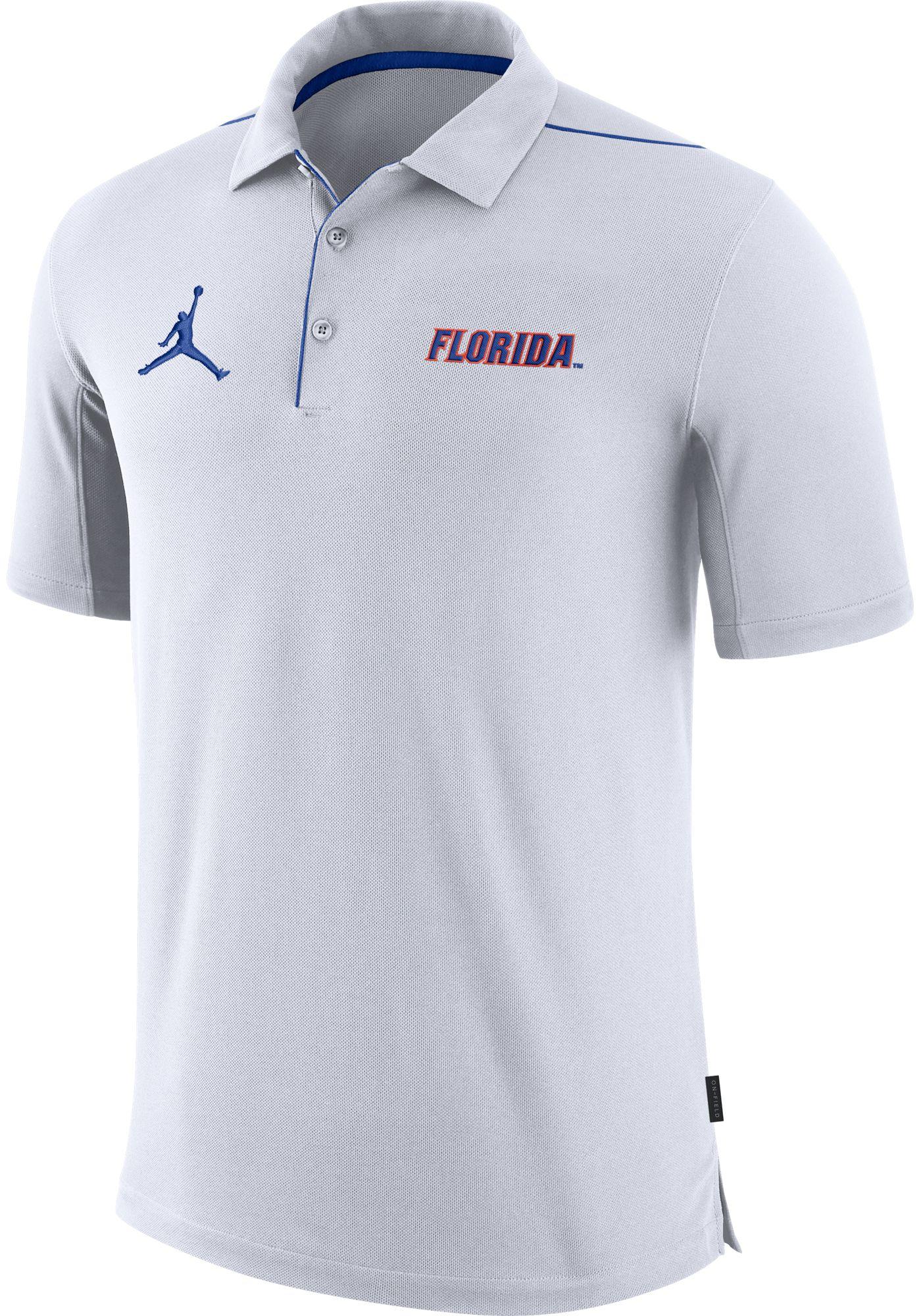 Jordan Men's Florida Gators Team Issue Football Sideline White Polo