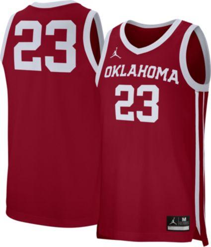 5d01423d7 Jordan Men s Oklahoma Sooners Crimson  23 Replica Basketball Jersey.  noImageFound