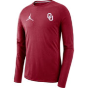 Jordan Men's Oklahoma Sooners Crimson Alpha Dri-FIT Long Sleeve Shirt